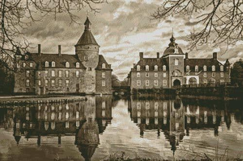 Anholt Castle, Germany (Sepia) by Artecy printed cross stitch chart